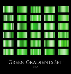 Set of green silk gradients collection of vector
