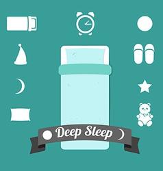 Set of icons on a theme of deep sleep vector image