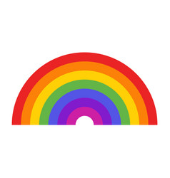 Seven colors rainbow icon vector
