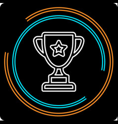 simple trophy cup thin line icon vector image