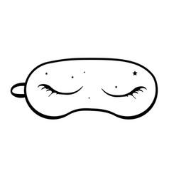 sleeping eye mask isolated on white background vector image