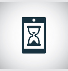 smartphone hourglass icon for web and ui on white vector image