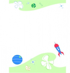 Space paper vector