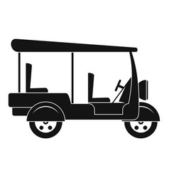 Taxi rickshaw icon simple style vector