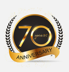 Template 70 years anniversary vector