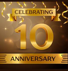 Ten years anniversary celebration design vector