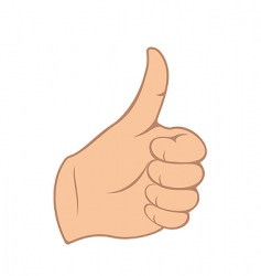 thumb gesture vector image