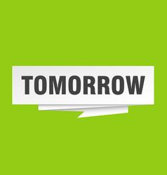 Tomorrow vector
