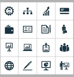 trade icons set collection of group increasing vector image