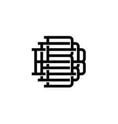 triple b monogram bbb letter hipster lettermark vector image