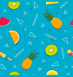 tropical summer fruit seamless pattern background vector image