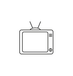 tv watch icon vector image