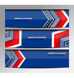 USA Banners Template Design vector image