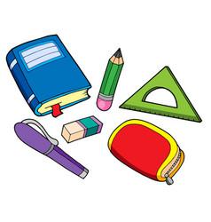 Various school properties vector