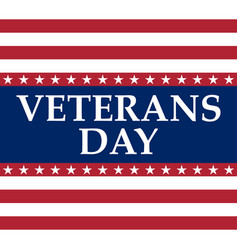 Veterans day in united states america vector