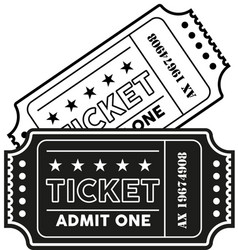 Vintage modern ticket vector