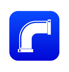 Water pipe icon digital blue vector