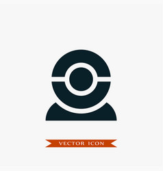 web cam icon simple vector image