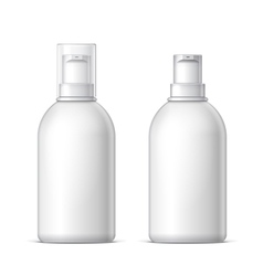 White plastic bottle can sprayer vector