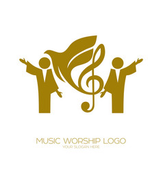 Worshiping god in the holy spirit vector