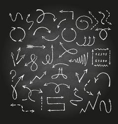 arrows on black chalkboard vector image