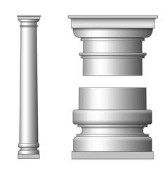 Classic Ancient Column vector image