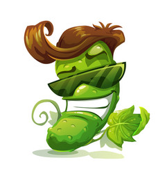 cucumber character icon vector image vector image