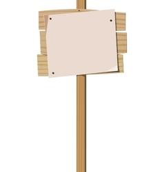Empty notice board vector image