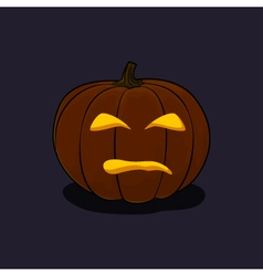Halloween Evil Pumpkin on Dark Background vector image
