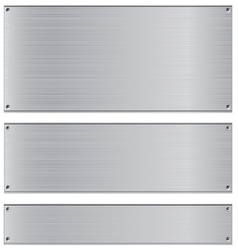 Metal background Stainless and silver steel vector image