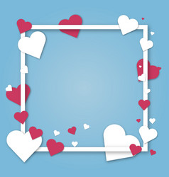 paper hearts valentines day love art card vector image vector image