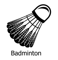 badminton icon simple black style vector image
