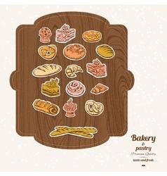 Bakery sketch set vector image vector image
