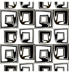 Black and white pattern of stylized squares vector image vector image