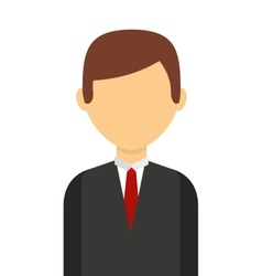 business man isolated icon design vector image vector image