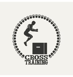 Cross Training man silhouet 3 logo vector image vector image