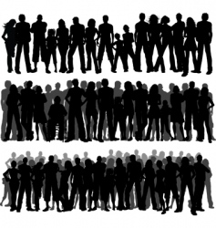 crowds of people vector image