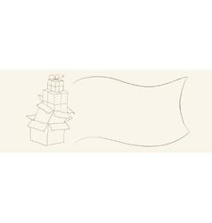 Hand drawn gift boxes sketch suitable for coupons vector image