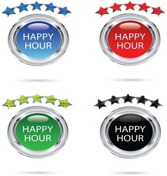 HAPPY HOUR resize vector image vector image