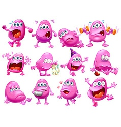 Monster actions vector image vector image