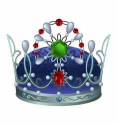 silver royal crown vector image