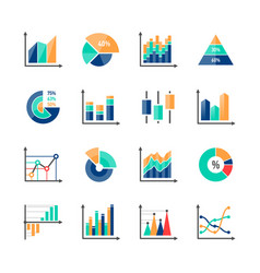 business data market infographic elements icons vector image