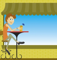 cafe vector image vector image
