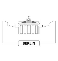 cityscape of berlin vector image vector image