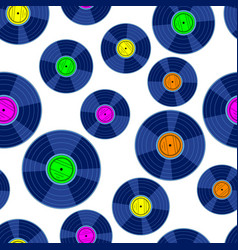Gramophone record disk pattern vector