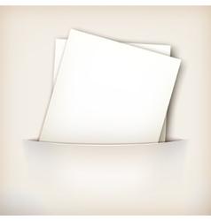 Paper Sheet in Pocket vector image vector image