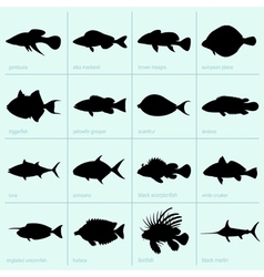 Sea fishes vector image vector image