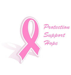 breast cancer ribbon vector image