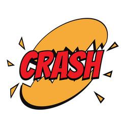 crash comic word vector image vector image