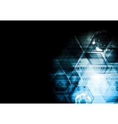 Dark blue technology background vector image vector image